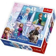 Puzz 4 In 1 Frozen      #