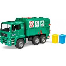 Man Tga Garbage Truck Green
