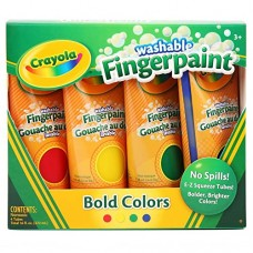 4 Washable Fingerpaint Tubes