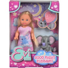 Evi Doll With Baby Elephant 12 Cm