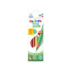 Carioca Tita Wood Free Maxi Triangular Pencil Box Of 6 Pcs