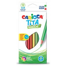 Carioca Tita Wood Free Triangular Pencil Box Of 12 Pcs