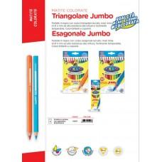 Carioca Exagonal Jumbo Crayons Box Of 6 Pcs