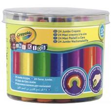 Cr 24 Mini Kids Jumbo Crayons