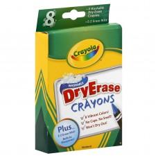 8 Crayons Cire Effacables