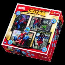Puzzle 4 In 1 Spiderman