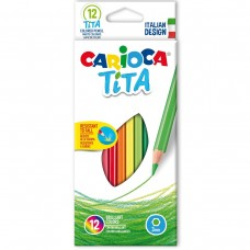 Carioca Tita Wood Free Pencil Box Of 12 Pcs