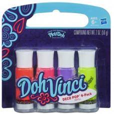 Doh Vinci Deco Pop 4 Ədəd