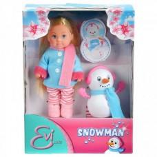 Evi Doll 12 Cm And Snowman Simba