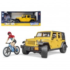 Bruder Jeep Wrangler With Cyclist