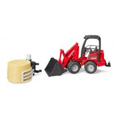 Scmffer Compact Loader 2630 With Ьа1Е Gripper+ 1 Round Bale