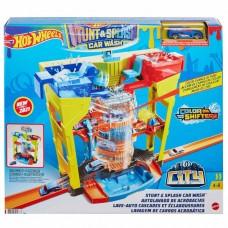 Hot Wheels Stunt & Splash Car Wash Color Shifters 2 Extra Cars Included Mattel