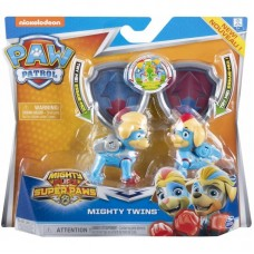 Paw Patrol Mighty Pups Super Paws Mighty Twins Light Up Deluxe Figures