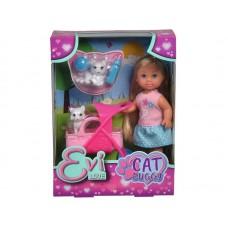 Evi Doll Walking The Kittens 12 Cm
