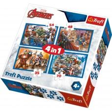 Puzz 4 In 1 Avengers V2
